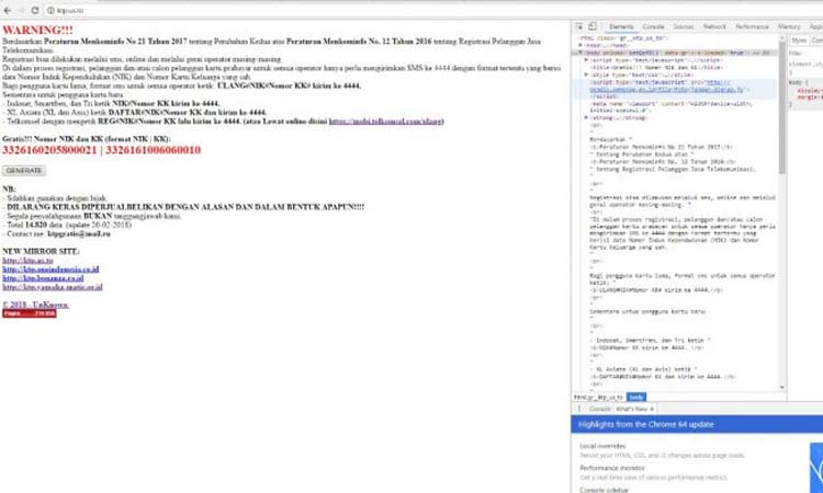 Data Nomor KK dan KTP Diumbar, Situs Kemenag Dijadikan Source Peretas